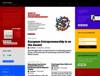 disciplinedentrepreneurship.com screenshot