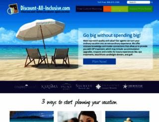 discount-all-inclusive.com screenshot
