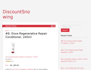 discountsnowing.com screenshot