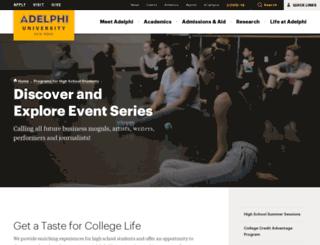 discover.adelphi.edu screenshot