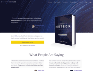 discovermeteor.com screenshot