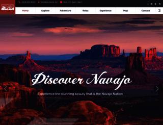 discovernavajo.com screenshot