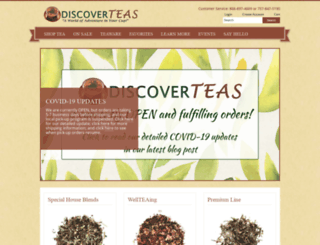 discoverteas.com screenshot