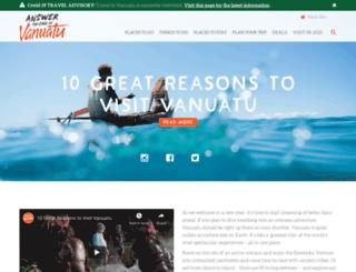 discovervanuatu.com.au screenshot