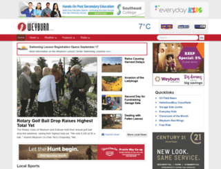 discoverweyburn.com screenshot