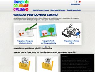 disegnidacolorareonline.com screenshot