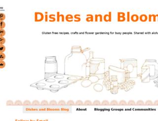 dishesandblooms.com screenshot