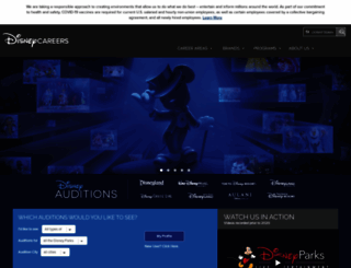 disneyauditions.com screenshot