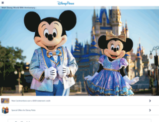disneyparks.com screenshot