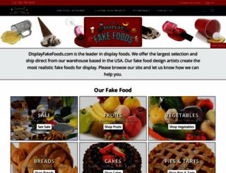 displayfakefoods.com screenshot