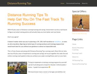 distancerunningtips.com screenshot