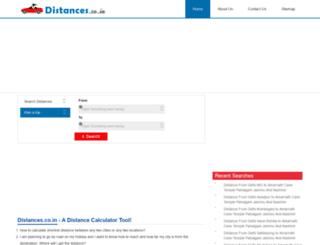 distances.co.in screenshot