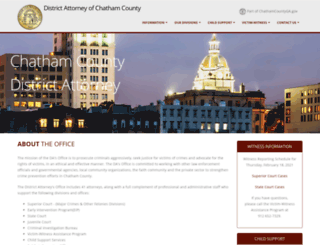 districtattorney.chathamcounty.org screenshot