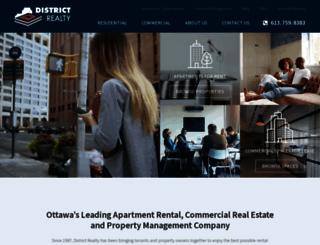 districtrealty.com screenshot