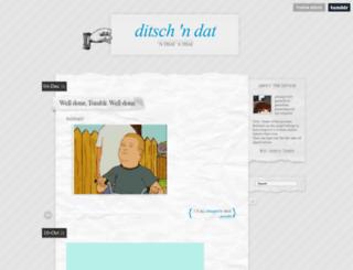 ditsch.tumblr.com screenshot