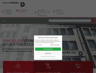 dittmann-wohnungsverwalter.de screenshot