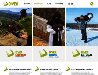 diver.com.pt screenshot