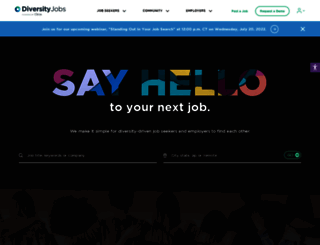 diversityjobs.com screenshot