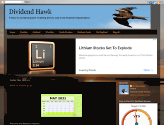 dividendhawk.blogspot.ca screenshot