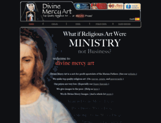 divinemercyart.org screenshot