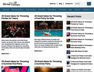 divinepartyconcepts.com screenshot
