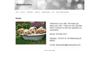 dixiesdoodles.yolasite.com screenshot