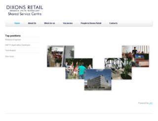 dixonsretailssc.jobs.cz screenshot