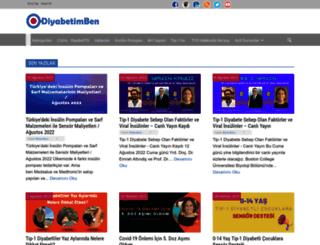 diyabetimben.com screenshot