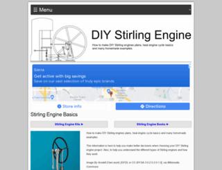 diystirlingengine.com screenshot