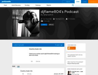 djflame1804.podomatic.com screenshot