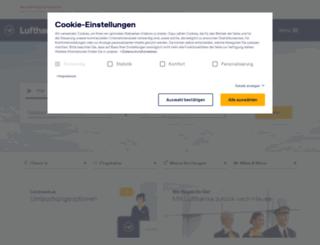 dlh.de screenshot