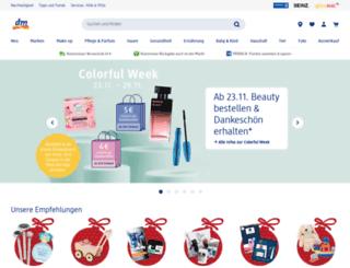 dm-drogeriemarkt.com screenshot