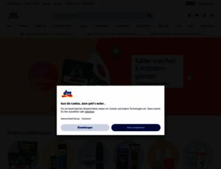 dm-drogeriemarkt.de screenshot