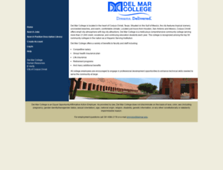 dmcjobs.delmar.edu screenshot