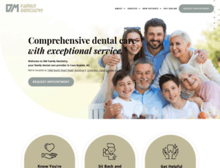 dmfamilydentistry.com screenshot