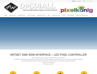 dmx4all.de screenshot