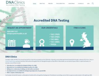 dnaclinics.co.uk screenshot