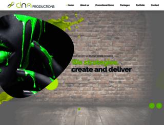 dnaproductions.co.za screenshot