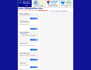 dnsgoodies.com screenshot