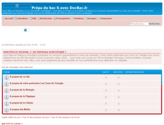 docbac.forumsdediscussions.com screenshot