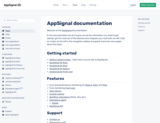 docs.appsignal.com screenshot