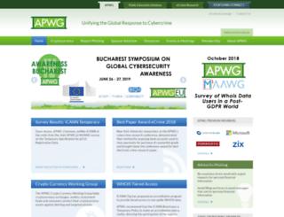 docs.apwg.org screenshot