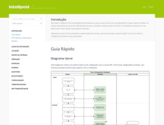 docs.intelipost.com.br screenshot