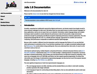 docs.julialang.org screenshot
