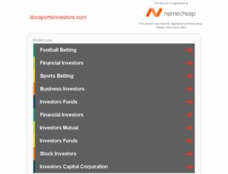 docsportsinvestors.com screenshot