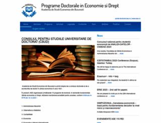 doctorat.ase.ro screenshot