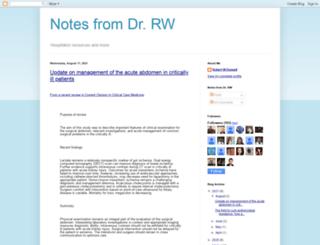 doctorrw.blogspot.com screenshot