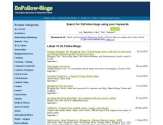 dofollowblogslist.com screenshot