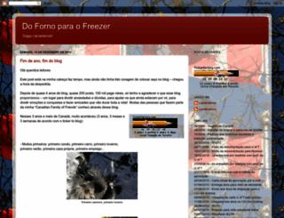 dofornoparaofreezer.blogspot.com.br screenshot