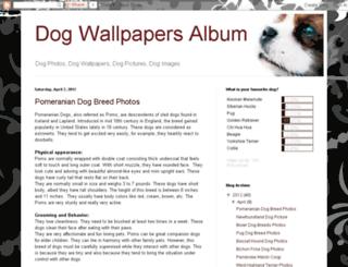 dog-wallpapers-album.blogspot.com screenshot